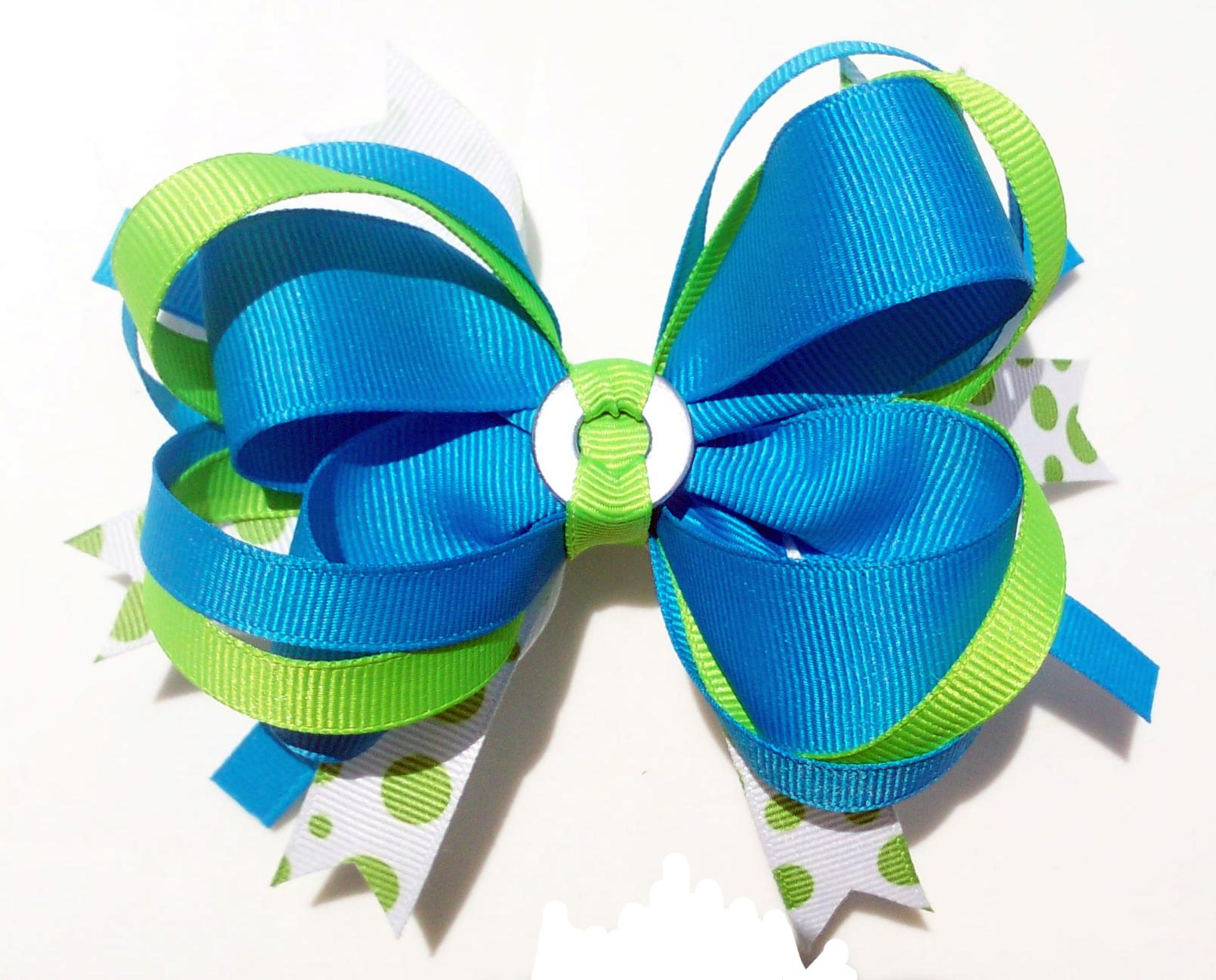 أستيكآت وفيونكآت للشعر.. bows_snapcap_bluegre