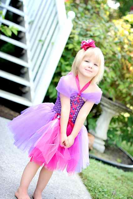 Rapunzel Princess Tutu  Costume (Tangled Inspired) - Halloween/Dress Up